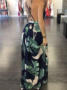 Available Sizes :S;XL Bust(cm) Waist(cm) Hip(cm) Length(cm) Type :Loose Material :Dacron Color :Multicolor Decoration :Cross Back, Draped, Print, Zipper Pattern :Floral Collar :Collarless Length Style :Floor Length Sleeve Length :Sleeveless Cheap Maxi Dresses, Dresses Dresses, Trend Fashion, Mode Outfits, Floral Maxi Dress, Backless, Fashion Dresses, Clothes For Women, Dress Online