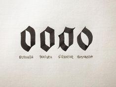 Caligraphy Alphabet, Tattoo Fonts Alphabet, Tattoo Lettering Fonts, Types Of Lettering, Typography Letters, Number Calligraphy, Calligraphy Doodles, Calligraphy Tutorial, How To Write Calligraphy