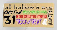 Halloween Subway Art Home Decor Canvas by CraftABeautifulLife, $24.00