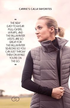 Fight off the cold weather in style with the CALIA™ by Carrie Underwood Women's High Collar Vest. Moisture-wicking and antimicrobial properties boast rapid dryness and a fresh feel, while the quilted design locks in warmth. A high collar adds further protection from the elements, and the sleeveless cut allows full, breathable mobility. Perfect for layering, the CALIA™ High Collar Vest makes for an awe-inspiring fitness look. | CALIA by Carrie Underwood