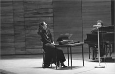 Maria at the Juilliard School for her master classes, 1971.