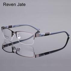 5800004fefd Reven Jate 8850 Half Rim Alloy Front Rim Flexible Plastic Temple Legs  Optical Eyeglasses Frame for Men and Women Eyewear