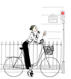 Illustration, Fashion, Bicycle, Chanel couleur 3 d My Little Paris, 3d Fantasy, Bicycle Art, Mood, Fashion Sketches, Fashion Drawings, Fashion Art, Color Fashion, Paris Fashion