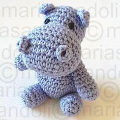 Receita de Amigurumi de Crochê Hipopótamo Fredinho