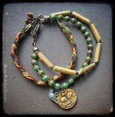 Art Bead Scene Blog: Tutorial Tuesday: Earthy Momma Multi-Strand Bracelet