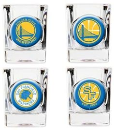 e84958f75cf NBA Golden State Warriors Shot Glasses (Set of 4) Golden State Warriors  Gear