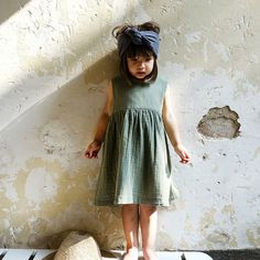 Rochie Poudre Organic din muselina - Matcha Oil Green Matcha, Dresser, Coton Bio, Coloring For Kids, How To Look Pretty, Cotton Dresses, Big Kids, Passion For Fashion, Organic Cotton