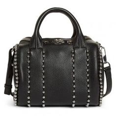 Alexander Wang Studded Leather Black Rockie Crossbody Satchel - 30% Off