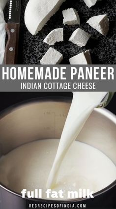 Paneer is called Indian cottage cheese but it's much different than what the rest of the world knows as cottage cheese. Paneer is a firm, non-melting cheese made from milk. In this recipe, I will show you how to make paneer at home with a recipe I learned in school. There are many recipes you can make with this paneer when it's done such as paneer tikka, paneer butter masala, and palak paneer. Try this recipe this week! #homemade #paneer #vegetarian #Indianfood #dinner #snacks Paneer Recipe Video, Homemade Paneer Recipe, Palak Paneer Recipe Easy, Paneer Snacks, Paneer Dishes, Paneer Cheese Recipes, Indian Paneer Recipes, How To Make Paneer, Comida India