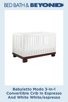 The modern Modo crib from Babyletto is sleek and sophisticated. With 4 adjustable mattress heights, it converts into a toddler bed and daybed. Slatted sides and a solid pine wood construction help keep baby safe during a comfy slumber. Crib Bedding, Bedding Shop, Modern Crib, Convertible Crib, Baby Safe, Baby Grows, Solid Pine, Wood Construction, Daybed