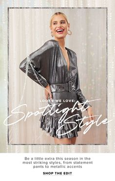 REVOLVE: glitter, sequins, metallic, oh my! Michael Rosen Nice, Fashion Website Design, Fashion Design, Banner Design, Layout Design, Banner Site, Fashion Banner, Best Banner, Fashion Templates