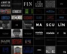 frenchcinema:    The typography of Jean-Luc Godard