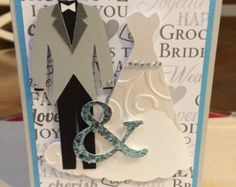 Princess Rose Personalised Wedding Dress Card / Bride and