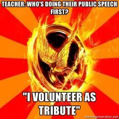hunger games humor :) if you want to see more hunger games humor, check out my board for HUNGER GAMES!!!!!