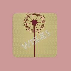 Wishes Dandelion Flower Beverage Coasters  4.7 (19 reviews)  In stock!  Quantity:  set of 6 coasters.  Wishlist  $26.95  per set of six