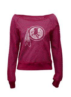Ladies Redskins Pullover Sweatshirt