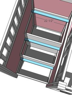 Steps. Ana White | Build a Storage Stairs for the Playhouse Loft Bed | Free and Easy DIY Project and Furniture Plans