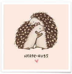 Hedgehugs - Sophie Corrigan - Premium Poster