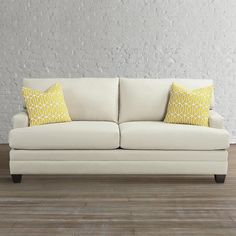 This sofa can be totally customized as far as length, depth, and arm style.  They have a great display on the floor.