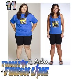 """Runner #11, Ada, from season 10 of The Biggest Loser, and now in """"From Fat to Finish Line: the documentary"""", lost 99 pounds through healthy eating and running!"""