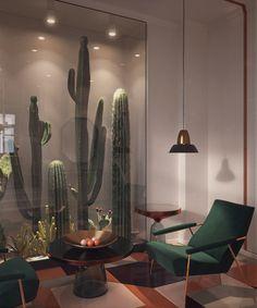 Cactus behind glass - yesssssss