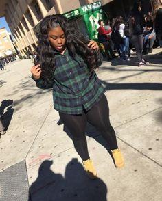 99 Eye Catching Plus Size Winter Outfits Ideas Thick Girl Fashion, Curvy Fashion, Look Fashion, Plus Size Fashion, Fashion Edgy, Fashion Ideas, Ladies Fashion, Winter Fashion, Fashion Outfits