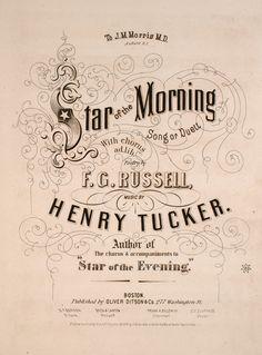 http://poshparis.etsy.com    Vintage music cover. Star morning.
