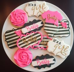 Kate Spade Inspired Baby Shower Cookies / One by ShopCookieCouture