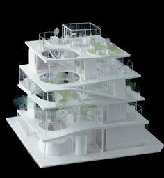 ryue nishizawa - S project - japan - 2008 Japan Architecture, Architecture Drawings, Architecture Portfolio, Concept Architecture, Interior Architecture, Building Architecture, Cubic Architecture, Landscape Architecture Model, Architecture Panel