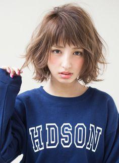 カジュアルパーマ アレンジヘア(髪型ボブ)