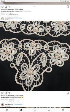 Macrame Patterns, Crochet Patterns, Romanian Lace, Point Lace, Needle Lace, Lace Fabric, Crochet Stitches, Free Crochet, Diy And Crafts