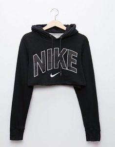 Wheretoget - Black Nike cropped hoodie sweatshirt Adidas Crop Sweater a52aff07680e