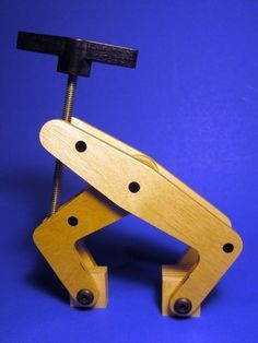 Wooden Kant Twist Clamp by oldnovice -- Homemade wooden Kant twist clamp constructed from birch, poplar, and oak. Threaded rod and Allen bolts were the only metal parts utilized in the project. Tested to a clamping force of 100 lbs. http://www.homemadetools.net/homemade-wooden-kant-twist-clamp