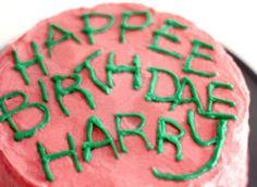 Harry Potter Halloween Party - Happee Birthdae Harry Cake
