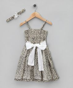 Take a look at this Gray Panther Shirred Dress & Headband - Girls by LoFff on today! Beautiful Little Girls, Cute Girls, That Look, Take That, Shirred Dress, Cute Girl Outfits, Panther, Summer Dresses, Gray