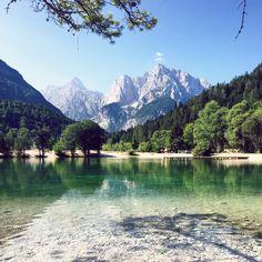 Summer in Slovenian Alps, Kranjska gora, Jasna lake.