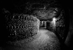 007. Walk through the catacombs of Paris