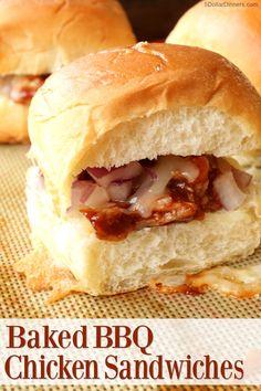 Baked BBQ Chicken Sandwiches from 5DollarDinners.com