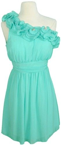 Beautiful turquoise dress! Love!