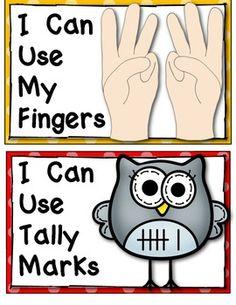 (sample page) Kindergarten Common Core Number Strategy Posters: {Math Word Wall}… Preschool Math, Math Classroom, Fun Math, Teaching Math, Teaching Posts, Maths, Classroom Ideas, Kindergarten Math Wall, Teaching Ideas