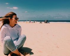 ❁ Sitting on the beach after school or at the weekends
