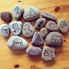 The story stones I have made (Amy Fealey) for my foundation stage class. Work in progress!