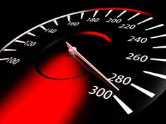 A speedometer light that changes color as per the speed of the vehicle. It turns red when over speed limit of the road
