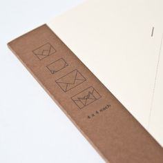 Envelope Notebook. Write a message for a friend, then fold the paper accordingly following the numbers, and there is your lovely envelope.