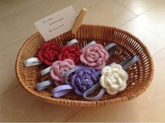 Crocheted Hats by Annemarie: Headband display
