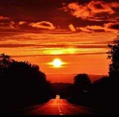 TAKE HOPE and keep going down the road. #DdO:) - https://www.pinterest.com/DianaDeeOsborne/hope-and-dreams/ - Like a beautiful sun ahead, sometimes it just takes TIME for the darkness to lift. Psalm 46:10, the LORD God encourages: Just wait on Him. Talk to him AKA Pray AND listen, as a friend who dearly loves you even more than YOU do. #HOPE & #DREAMS #Pinterest board. Art- cropped photo from Weather com #AUTUMN #SUNSETS - A UNiQUE pin.