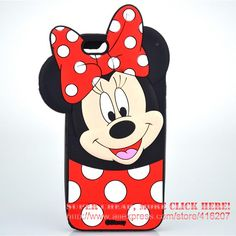For iPhone 4s/ 5 5s / 5C / SE/ 6 6s / 6 Plus Case Cartoon Smiling Minnie Mouse Soft Silicone Cell Phone Cases Covers Case