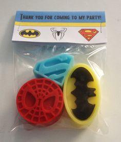 Batman Spiderman Superman Superhero SOAP party от Personalise123i, £1.00