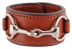 Nickel Bit & Leather Cuff, Chestnut