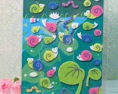 Snails Felt Sticker - Scrapbooking, Card-making